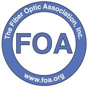 The Fiber Optic Association Logo
